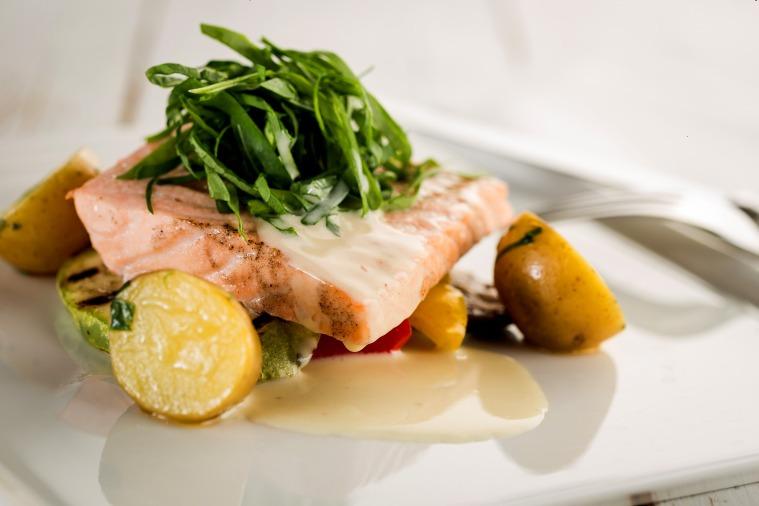 Yeni - Marly Brasserie & Bar Steamed Salmon 39TL (1)