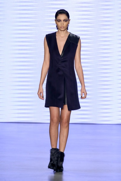 ISTANBUL, TURKEY - MARCH 20: A model walks the runway at the Burce Bekrek show during Mercedes Benz Fashion Week Istanbul FW15 on March 20, 2015 in Istanbul, Turkey. (Photo by Andreas Rentz/Getty Images For IMG)