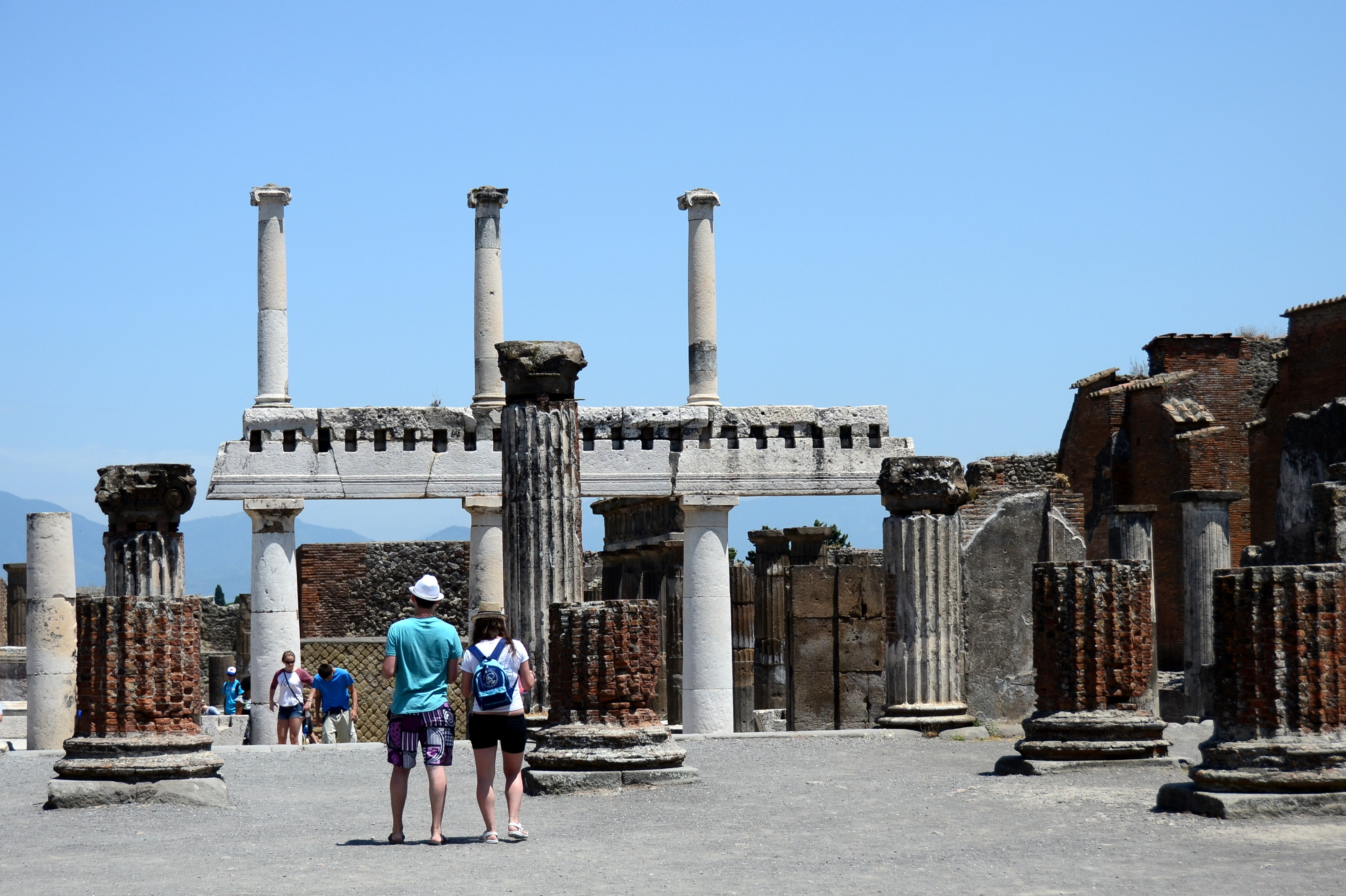 AMONG THE ANCIENT ASHES; POMPEI