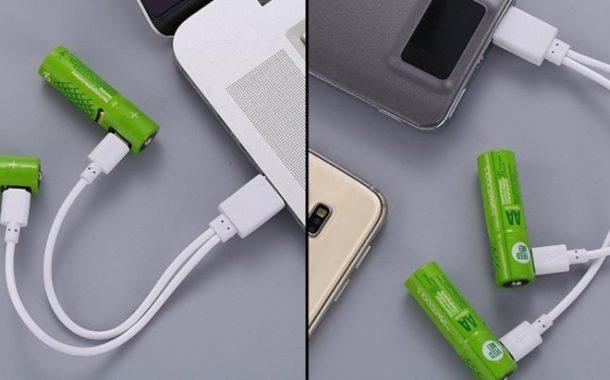 USB İle Şarj Edilebilen Piller Türkiye'de!
