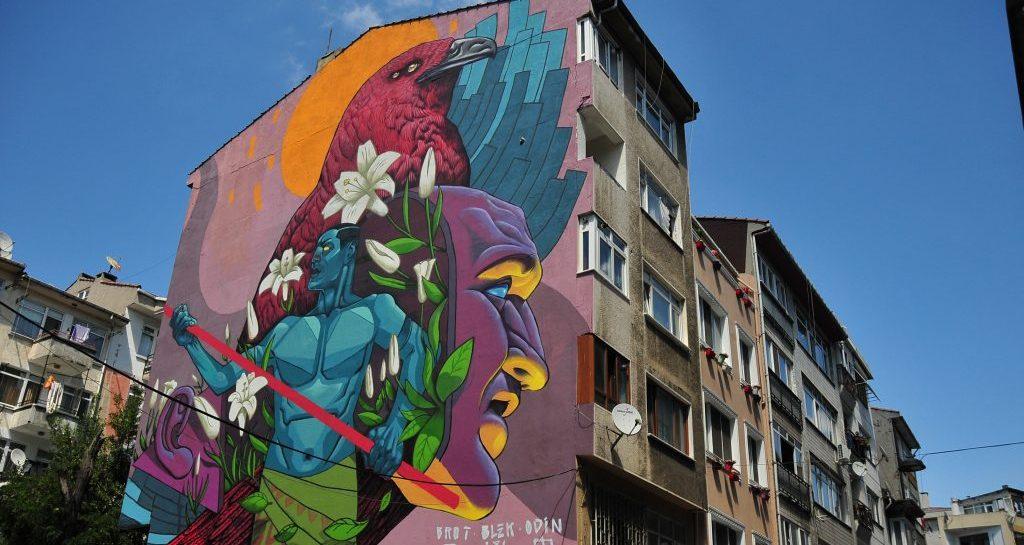 Kadıköy'ün Duvarları Mural İstanbul Festivali 'yle Renkleniyor